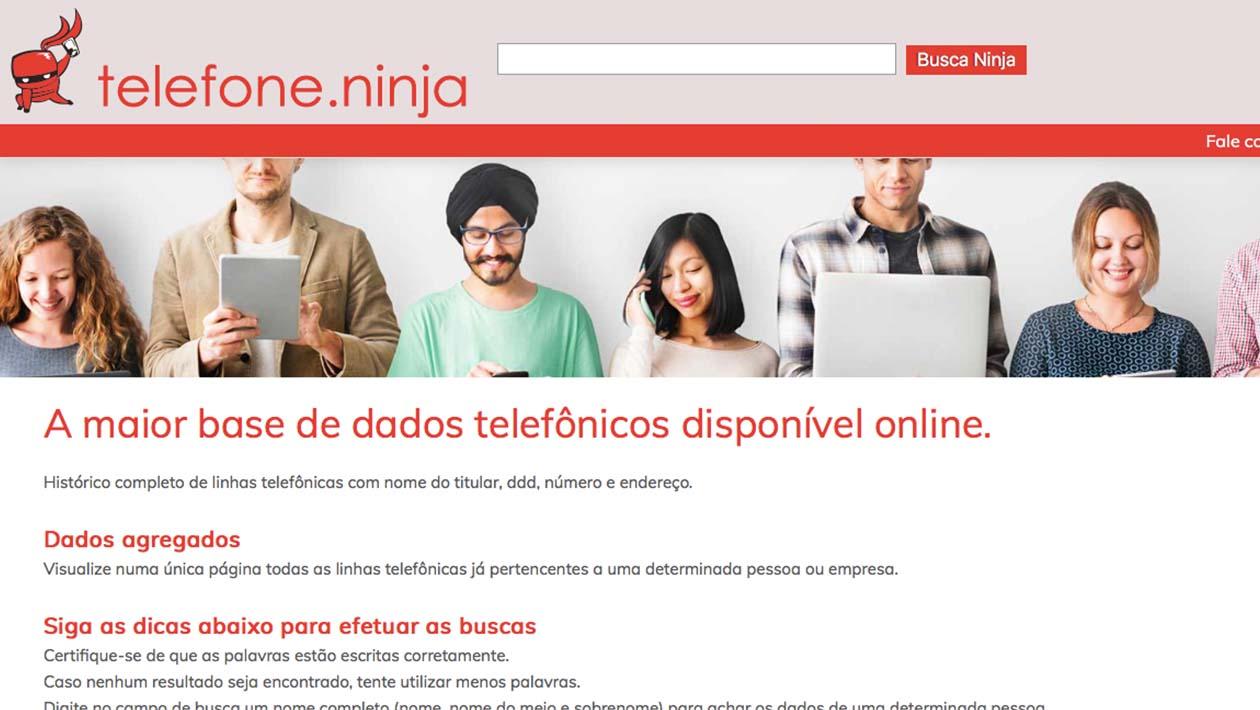 O site telefone.ninja ainda precisa responder a muitas perguntas