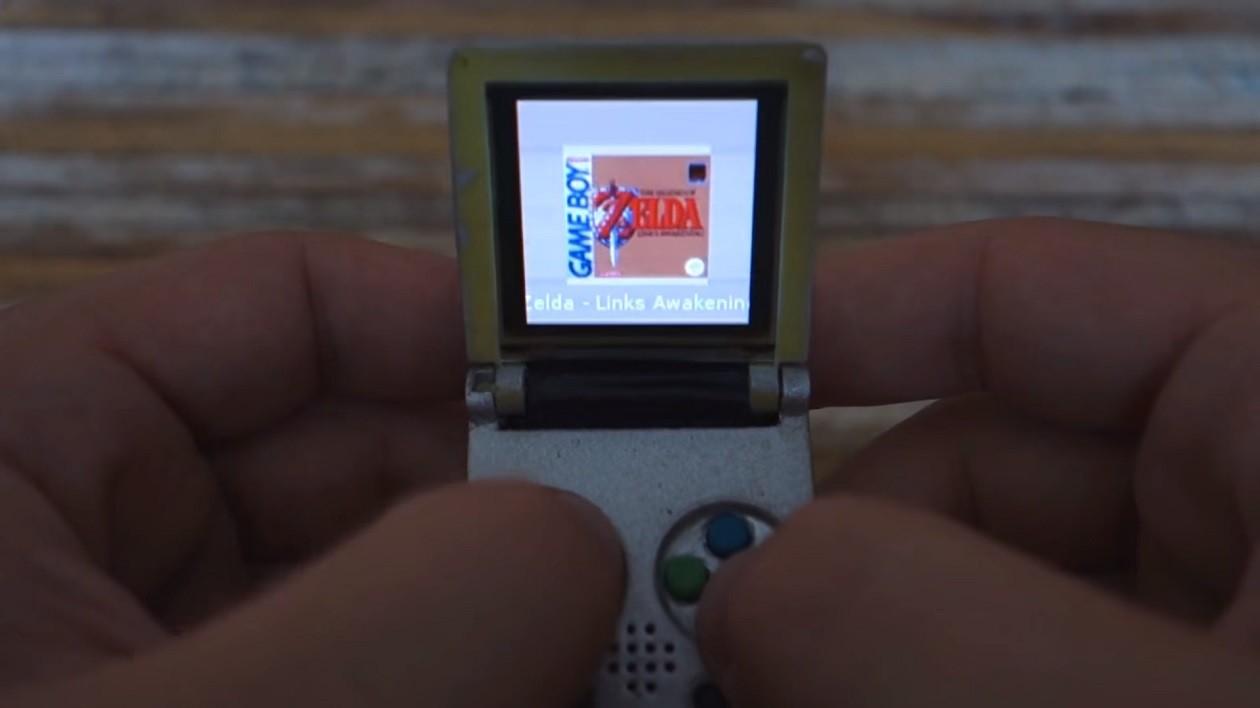 Youtuber cria mini Game Boy Advance SP e agora quer ensinar você a fazer o seu
