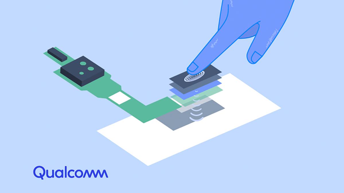 Sensores biométricos agora são colocados sob a tela. Crédito: Qualcomm
