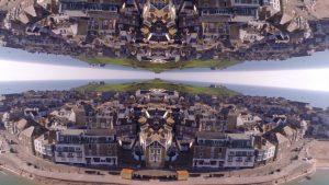 Filmagem caleidoscópica de drone te leva a lugares incríveis impossíveis de existir