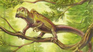 """Réptil antigo desenvolveu cabeça """"de pássaro"""" 100 milhões de anos antes dos pássaros"""