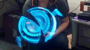 Este holograma 3D flutuante parece ter sido roubado do laboratório do Tony Stark