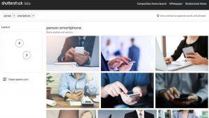 Agora você pode buscar imagens pela composição no Shutterstock, graças ao deep learning