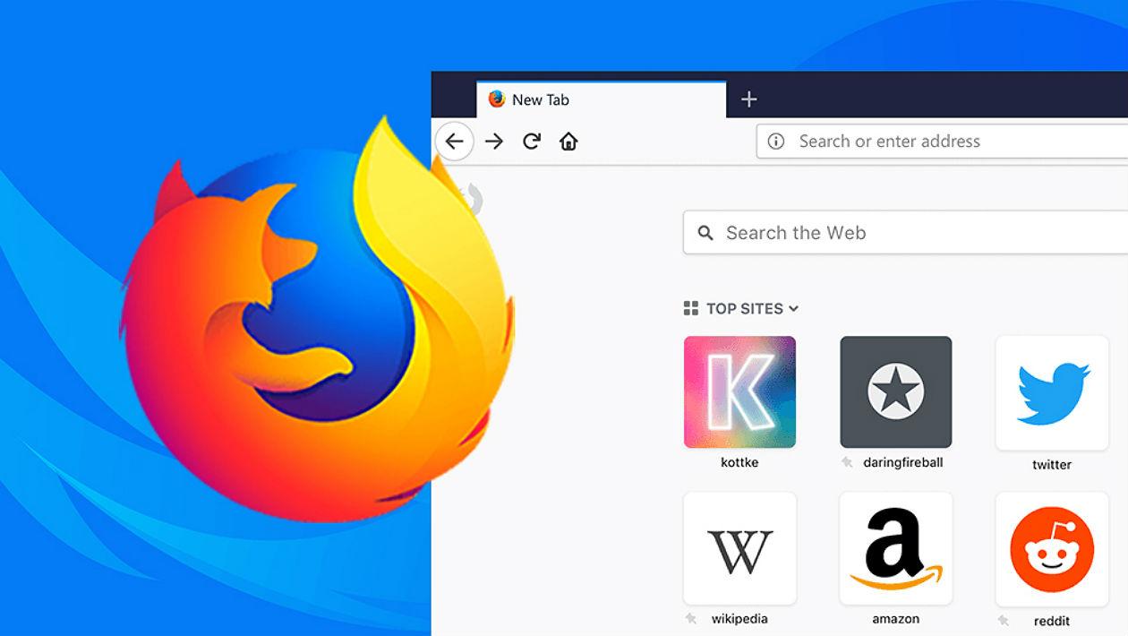 Navegador junto com o logotipo da Firefox