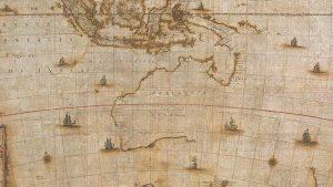 Mapa da Austrália de 350 anos ajuda a contar a história dos exploradores locais