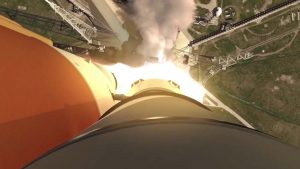 Veja a simulação do lançamento do foguete que nos levará até Marte e além