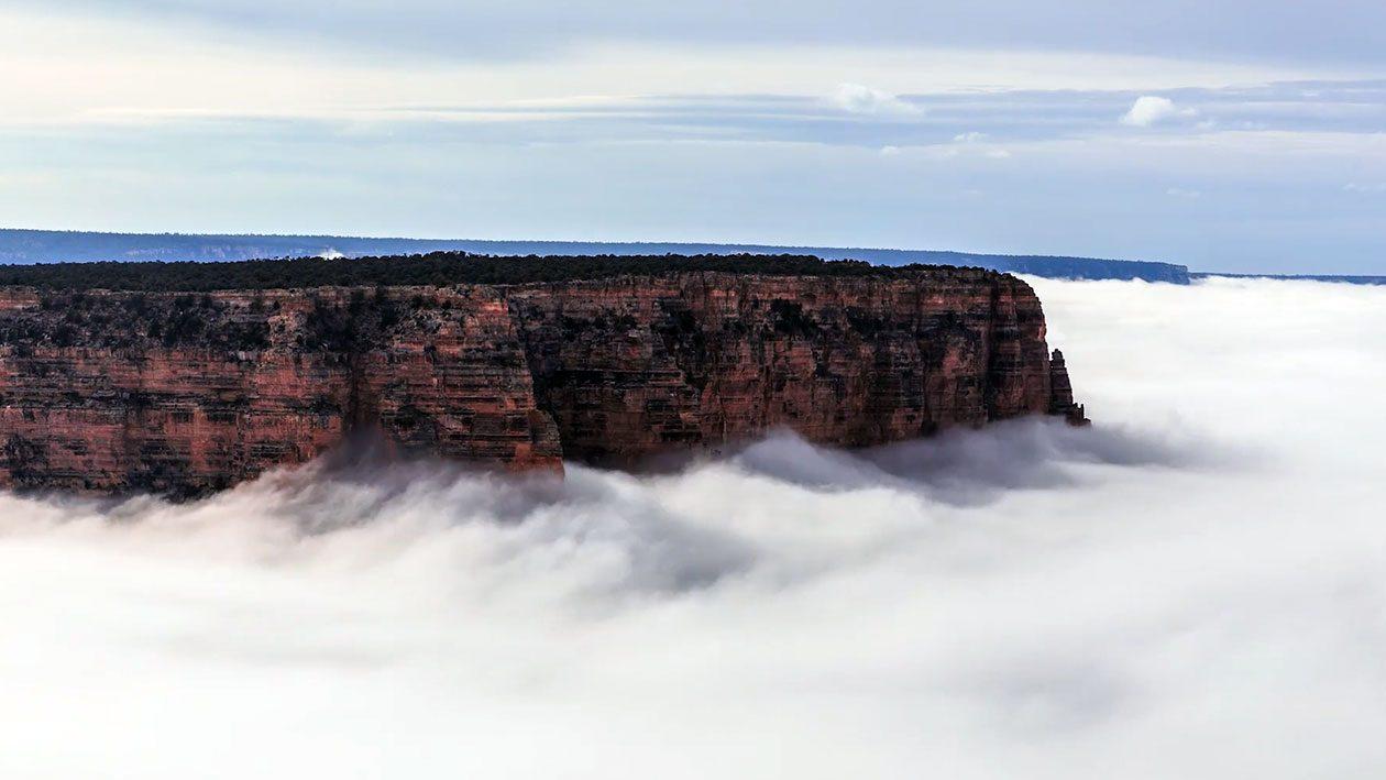 Veja este incrível fenômeno que preenche o Grand Canyon de nuvens