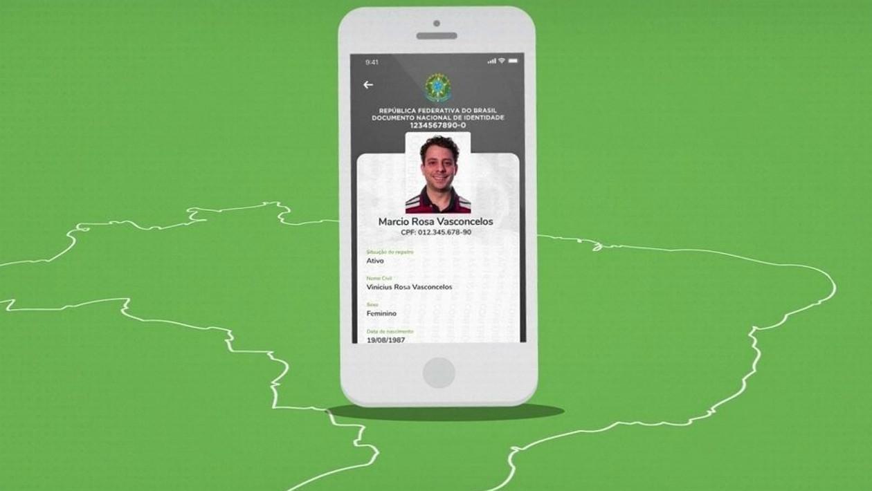 Tela do aplicativo que terá o Documento Nacional de Identificação (DNI)