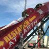 Imagem de 2018 mostra um dos foguetes de Mike Hughes, o doidão terraplanista