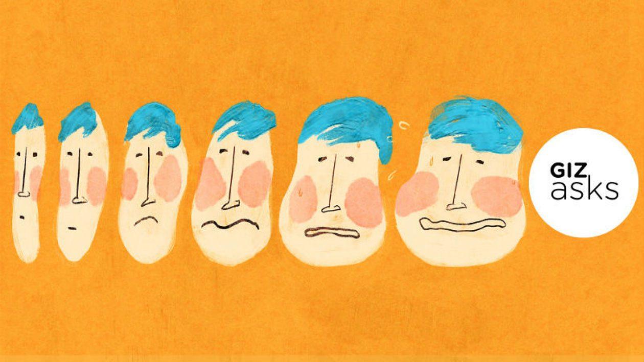 Por que o meu rosto está mudando de formato conforme envelheço?