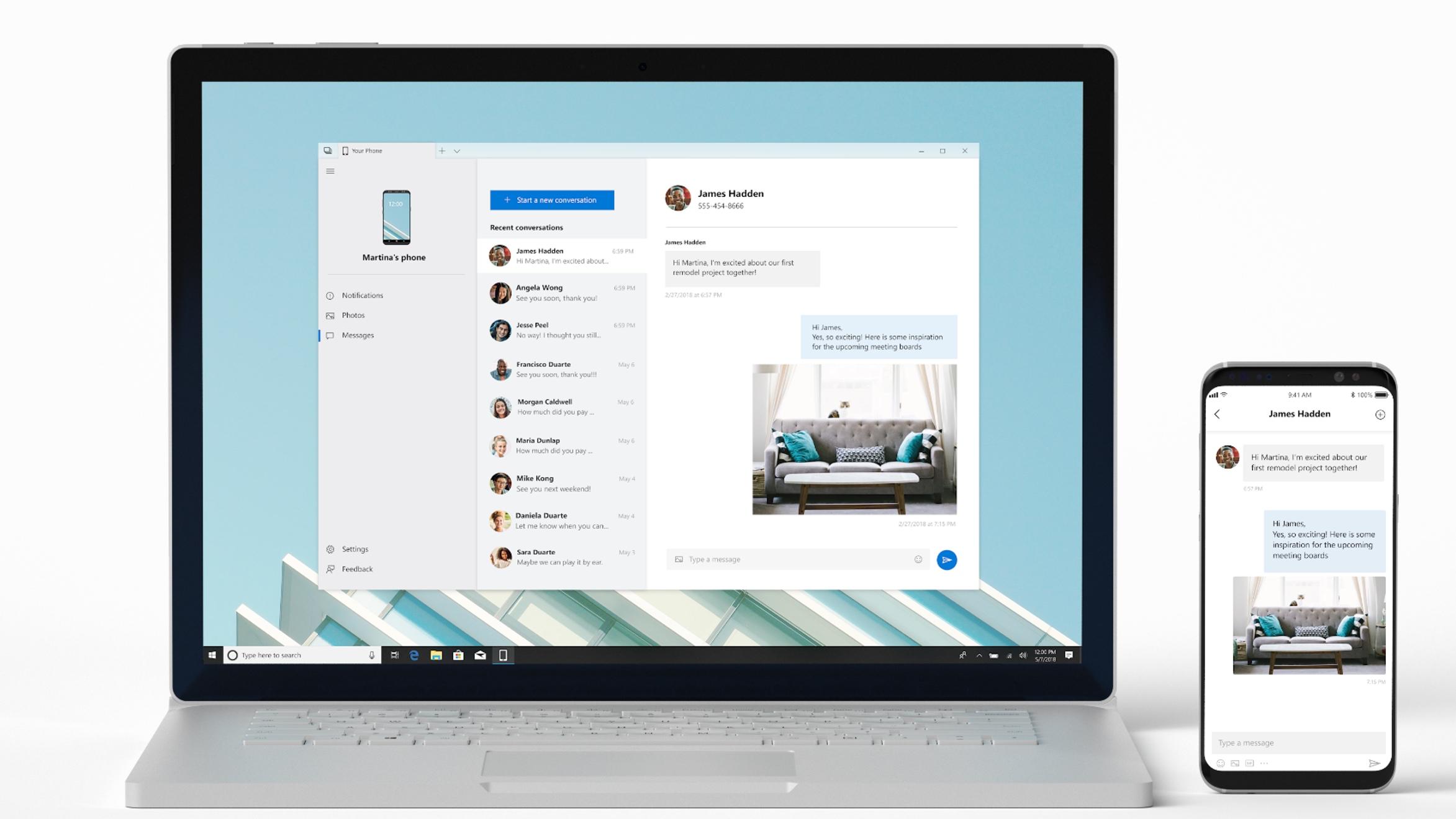 """Microsoft quer espelhar seu smartphone no Windows 10 com o app """"your phone"""""""