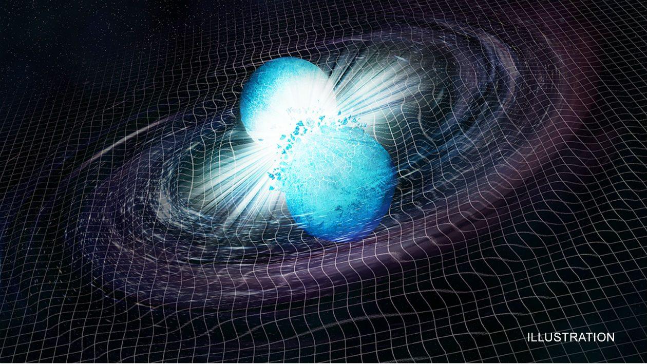 """Estrelas de nêutrons em colisão provavelmente deram à luz um buraco negro """"bebê"""""""