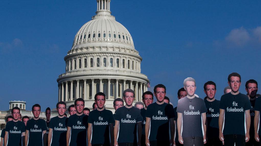 Vários Mark Zuckerberg. Crédito: Getty Images