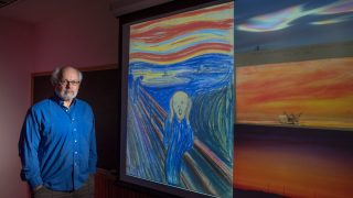 Alan Robock with an image of The Scream