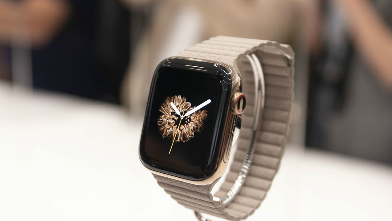 Apple Watch dourado
