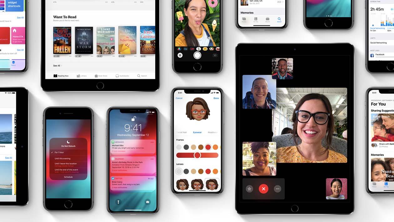 Telas do iOS 12