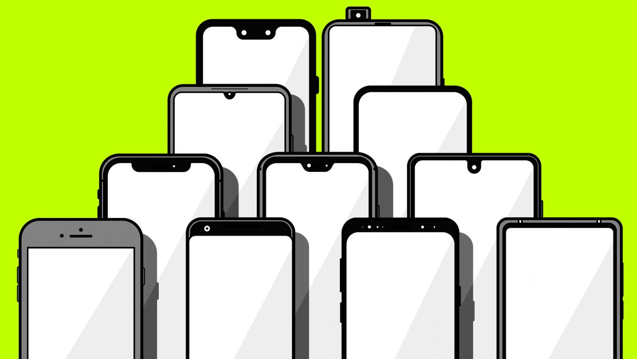 Tem Na Web - A incrível evolução dos recortes nas telas dos smartphones: das grandes bordas às telas completas