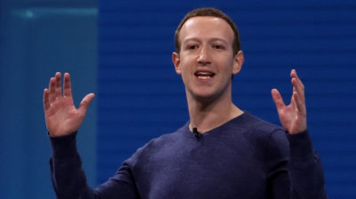 Mark Zuckerberg na conferência de desenvolvedores do Facebook