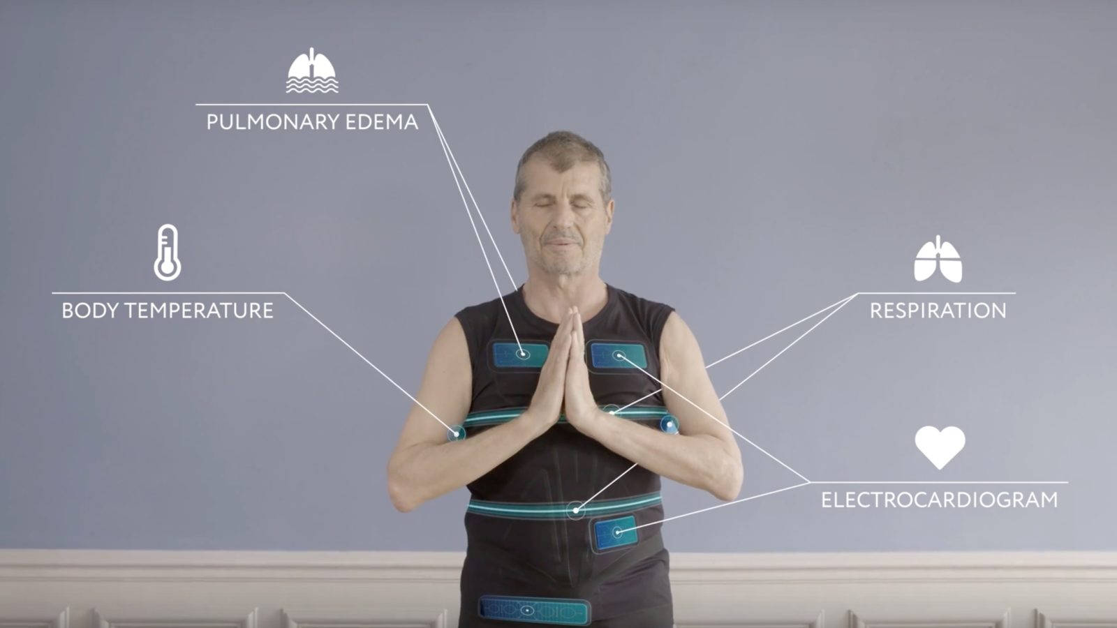 Esta camiseta conectada é capaz de monitorar seu estado de saúde para prevenir ataques cardíacos