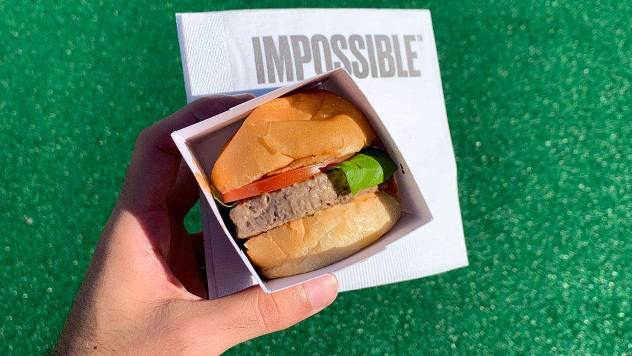 Receita 2.0 do hambúrguer da Impossible Foods. Crédito: Alessandro Feitosa Jr/Gizmodo Brasil