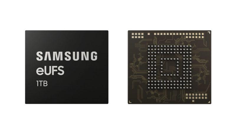 Chip de armazenamento de 1TB da Samsung