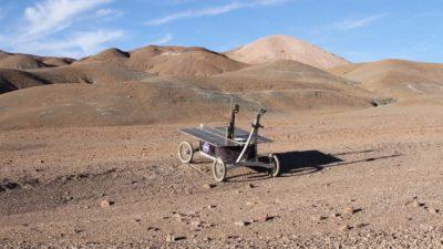 Sonda autônoma do tipo rover usada em experimento no Deserto do Atacama
