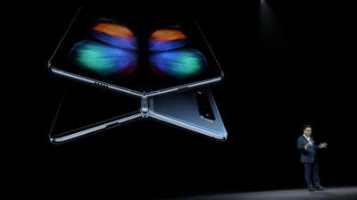 DJ Koh, da Samsung, durante apresentação do Galaxy Fold