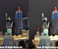 Foto tirada com o Honor View 20 comparando o modo noturno