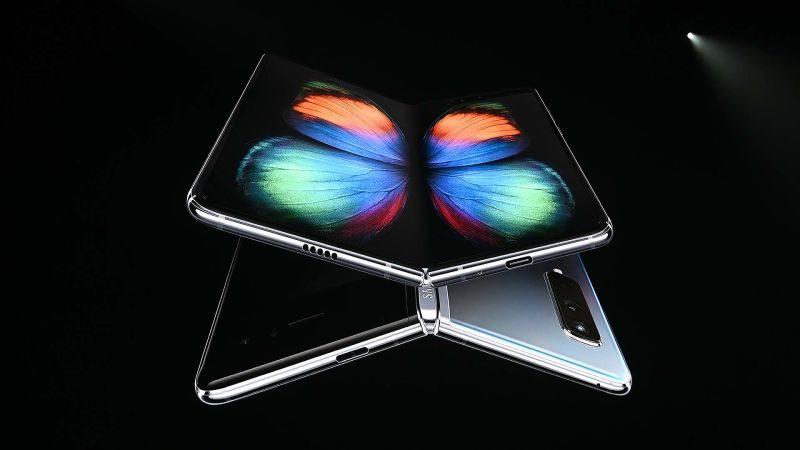 Imagem do smartphone dobrável Galaxy Fold