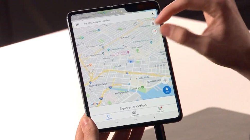 Google Maps no Galaxy Fold