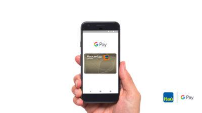 Tela mostra cartão do Itaú cadastrado no Google Pay