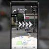 Captura de tela do Google Maps com realidade aumentada