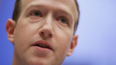Mark Zuckerberg, CEO do Facebook, durante depoimento