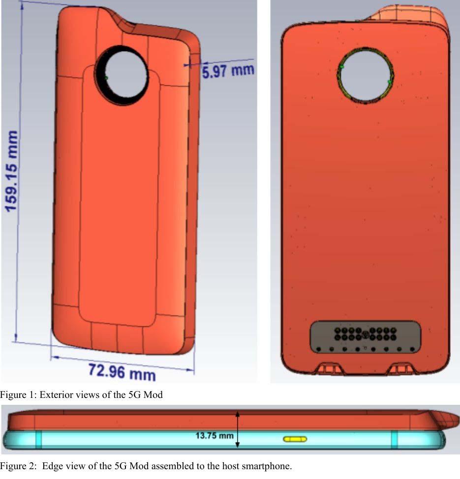 Ilustração do módulo 5G da Motorola em documentação da FCC