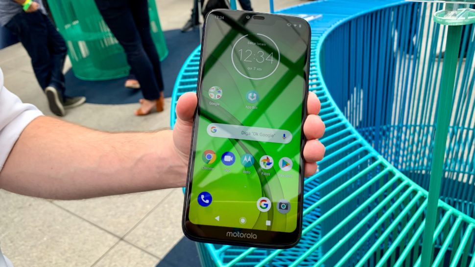 Frente do Moto G7 Power