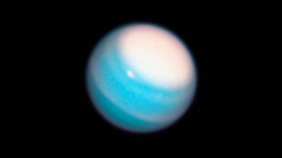 Pólo norte de Urano durante o verão