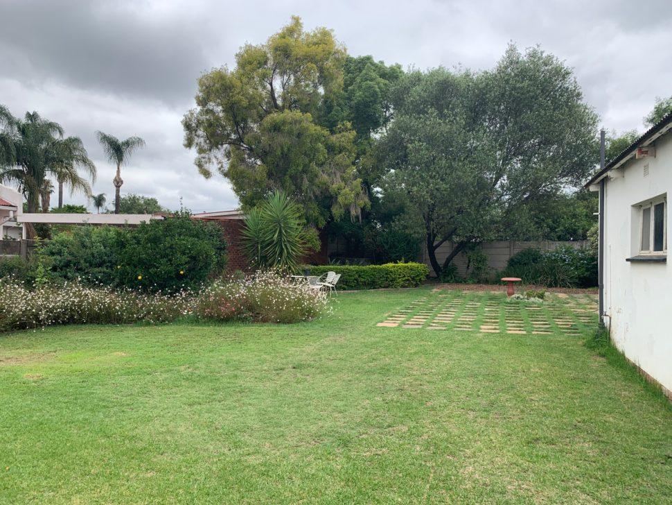 Quintal da casa em Pretória (África do Sul)