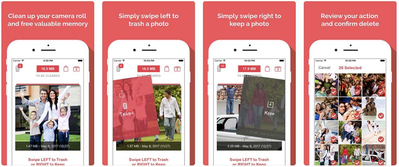 Telas do aplicativo Remove Master do iOS