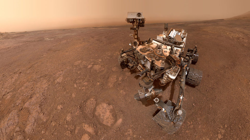 Selfie tirada pelo rover Curiosity