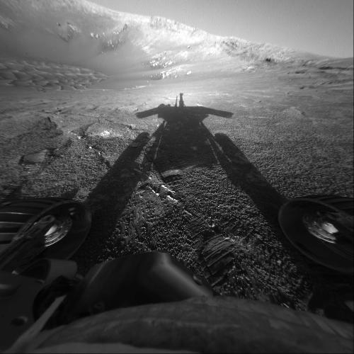 Sombra do rover Opportunity