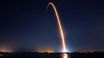 Lançamento do foguete Falcon 9 da SpaceX nesta quinta-feira (21)