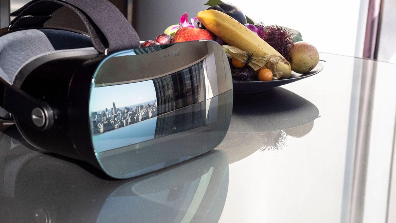 Frente do dispositivo de realidade virtual Varjo VR-1