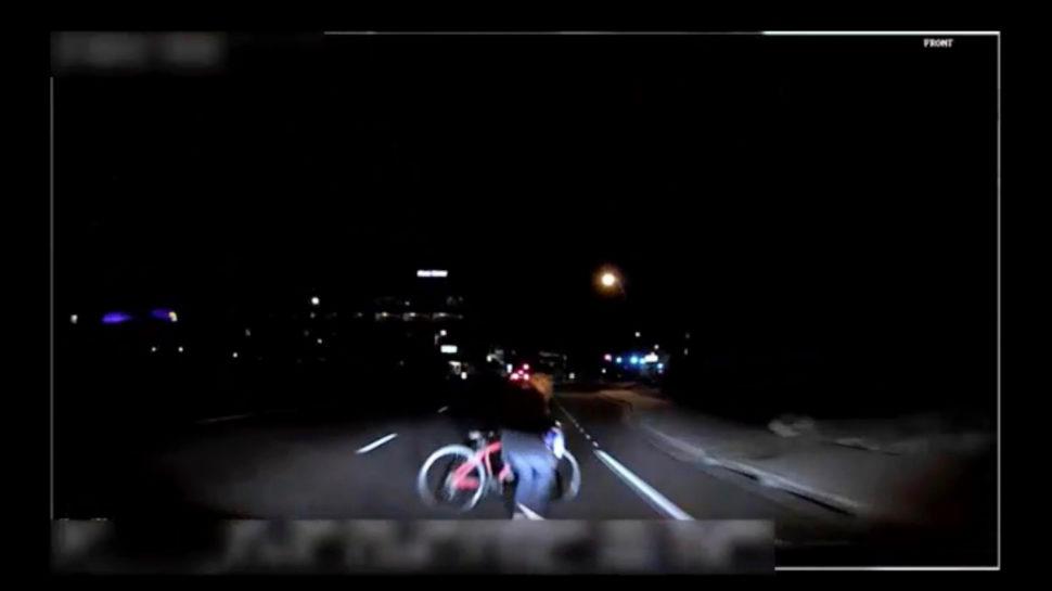 Imagem disponibilizada pela polícia mostra minutos antes do acidente que matou mulher que tentava atravessar a via