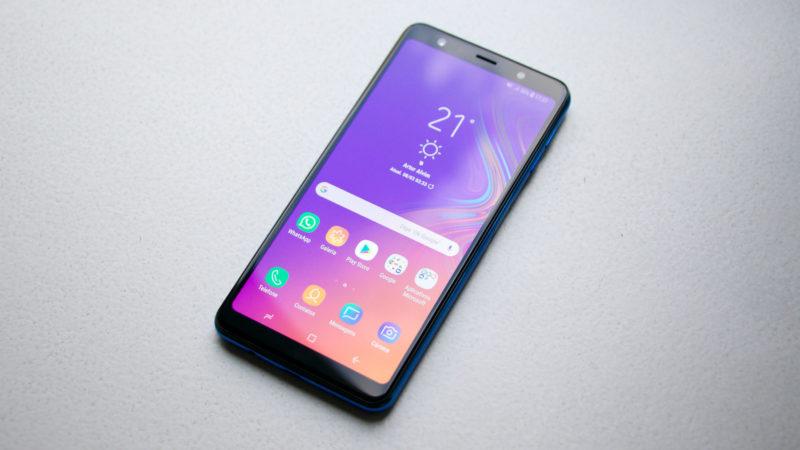 Tela do Galaxy A7 (2018)