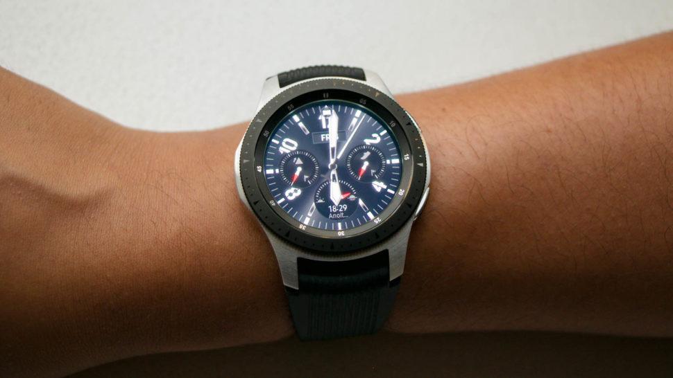 Galaxy Watch no braço