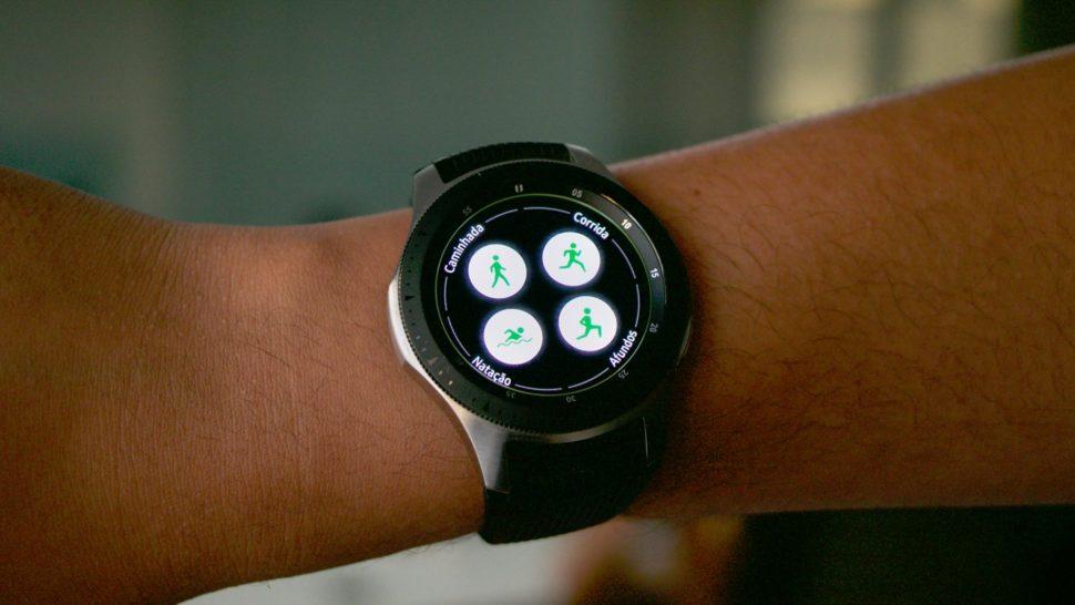 Funções de exercício físico do Galaxy Watch