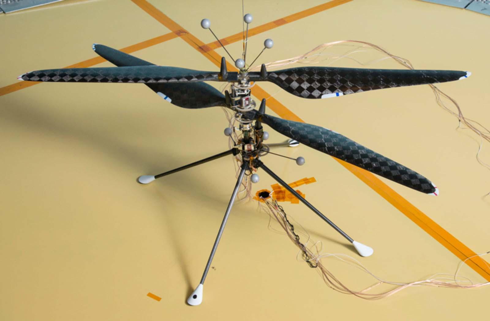 Este é o veículo de demonstração do helicóptero que irá para Marte