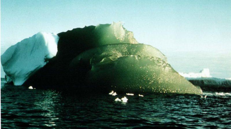 - iceberg verde agu 800x449 - Cientistas talvez tenham descoberto por que alguns icebergs são verdes