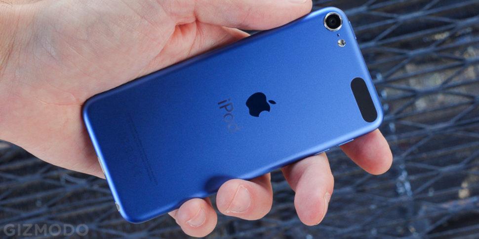 Tocador iPod na cor azul