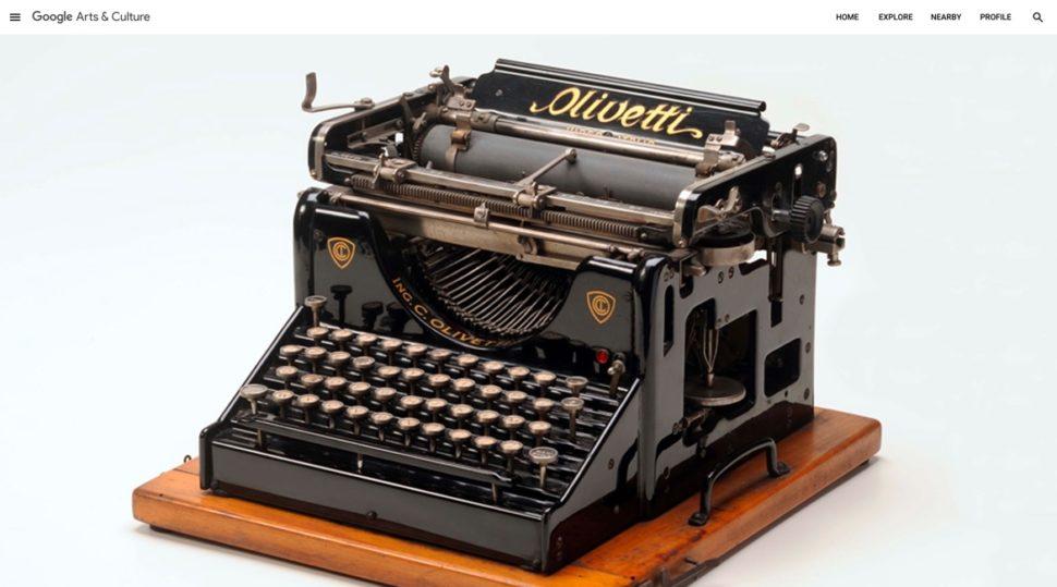 Primeira máquina de escrever da Olivetti